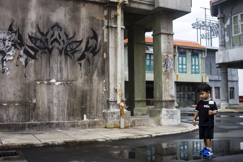Salah satu pojok di set Serangoon Road Infinite Studios Batam