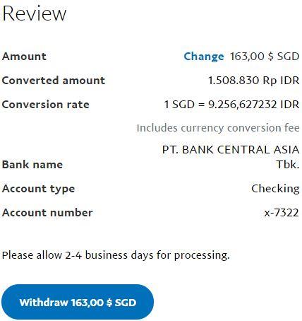Review withdraw uang dari Paypal