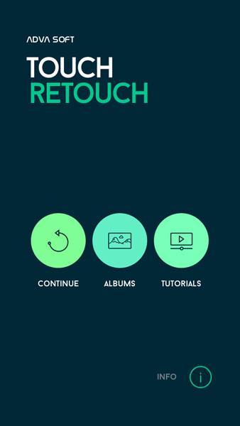 Buka aplikasi Touch Retouch dan pilih Albums