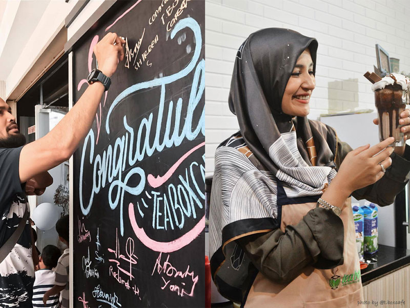 Grand Opening Tea Box Cafe bersama Shireen Sungkar